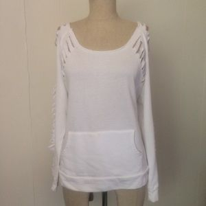 White Distressed Sweatshirt